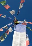 Tibetan prayer flags in Nepal Royalty Free Stock Photo