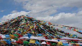 Tibetan prayer flags Stock Photos