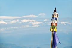 Tibetan prayer flags pyllons Royalty Free Stock Image