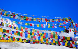 Tibetan prayer flags Stock Images