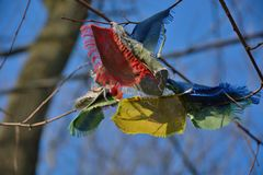 Tibetan prayer flags Stock Photography