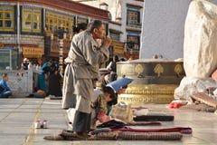 Tibetan prayer Stock Photos