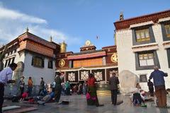 Tibetan prayer Stock Images