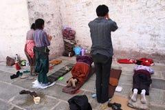Tibetan Prayer Stock Image
