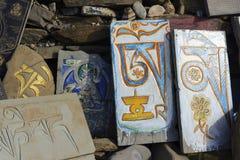 Tibetan prayer stones Royalty Free Stock Photos