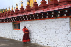 Tibetan Prayer and Tibetan tower Stock Photo