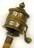 Tibetan Prayer Wheel. Detail of a Tibetan Prayer Wheel Stock Photos