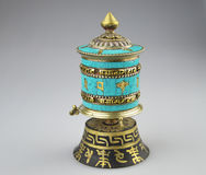 Tibetan Prayer Wheel Stock Photography