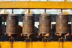 Tibetan prayer wheel ,Kathmandu, Nepal ,2012 Royalty Free Stock Photos
