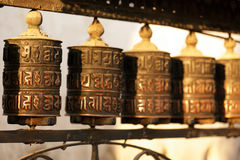 Tibetan prayer wheels Royalty Free Stock Image