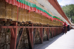 Tibetan prayer wheels Stock Photography