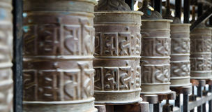 Tibetan prayer wheels Royalty Free Stock Images