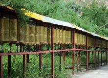 Tibetan prayer wheels. Prayer wheels in Sera Monastery, Tibet Stock Photos