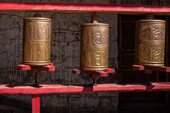 Tibetan prayer wheels in Stock Photography