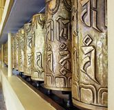Tibetan Prayer Wheels, Buddhist Temple, Mcleodganj, Himachal Pradesh, India Stock Images