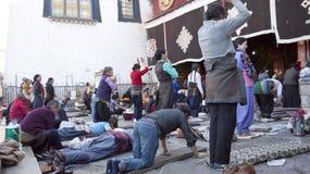 Tibetan prayers Stock Photos