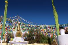 Tibetan prayers flags Stock Images