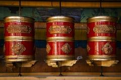The Tibetan prayers wheels Stock Photo