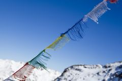 Tibetan praying flags Royalty Free Stock Photo