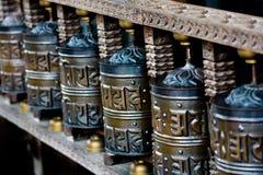 Tibetan Praying Wheels Stock Photography