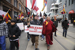 Tibetan Protest. Stock Photos