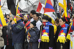 Tibetan Protest. Royalty Free Stock Photography