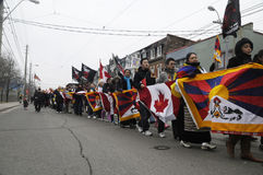 Tibetan Protest. Stock Photography