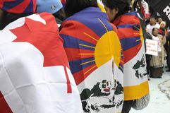 Tibetan Protest. Stock Photo