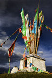 Tibetan religious monument on top of a mountain Stock Photos