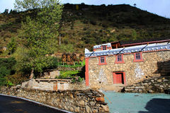 Tibetan residence and building Stock Photos
