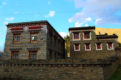Tibetan residence and building Stock Photos
