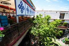 Tibetan residential courtyard Stock Photo