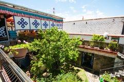 Tibetan residential courtyard Royalty Free Stock Photos