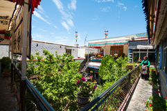 Tibetan residential courtyard Stock Images