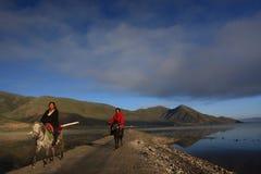Tibetan riders Stock Photos