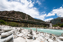 Tibetan river. Niyang river on tibetan plateau ,China Royalty Free Stock Photos