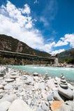 Tibetan river. Niyang river on tibetan plateau ,China Royalty Free Stock Photography