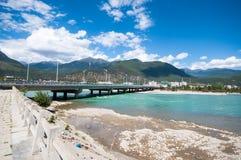 Tibetan river. Niyang river on tibetan plateau ,China Stock Images