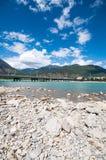 Tibetan river. Niyang river on tibetan plateau ,China Stock Photos