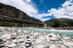 Tibetan river Stock Photo