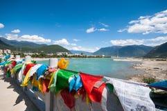 Tibetan river. Niyang river on tibetan plateau ,China Royalty Free Stock Images