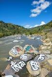 Tibetan river Stock Image