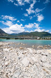 Tibetan rivier Stock Foto's