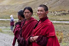 Tibetan rnying-ma-pa monks Stock Image