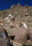 Tibetan  rock paintings Stock Images