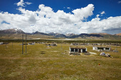 Tibetan rural village Royalty Free Stock Photography