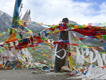 Tibetan's prayer flags(Jingfan) Royalty Free Stock Photos