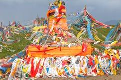 Tibetan's prayer flags(Jingfan) Royalty Free Stock Photo