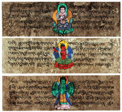 Tibetan Sanskrit Prayer Tablets Stock Photography