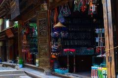 Tibetan shops Royalty Free Stock Images